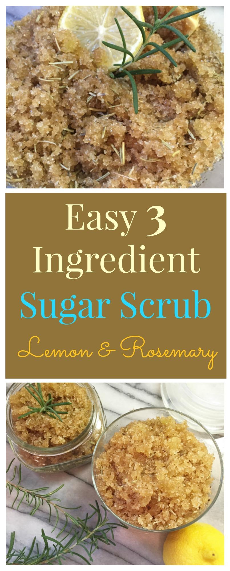 Lemon & Rosemary Sugar Scrub