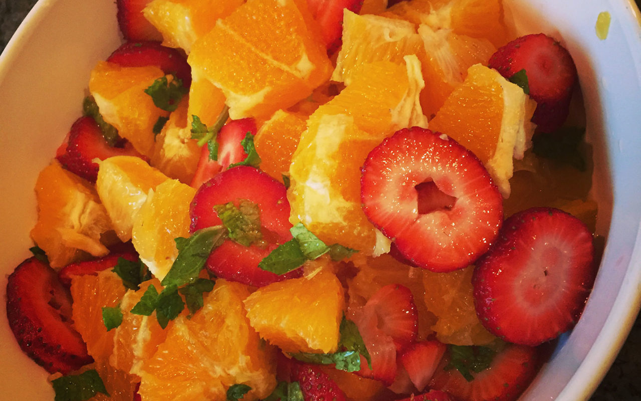 Simple Orange & Strawberry Salad