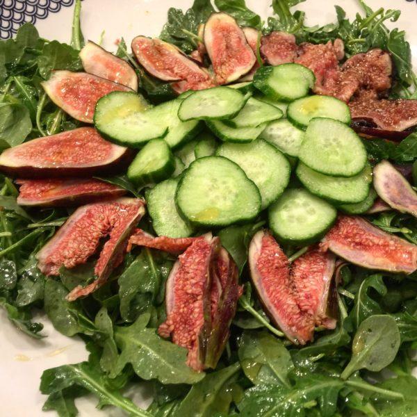 Arugula Fig Salad with Honey Lemon Dressing