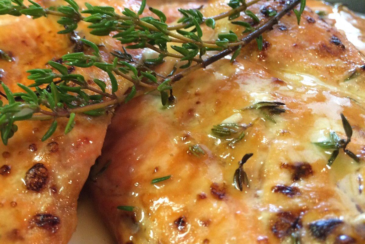 "Sweet & Savory ""Fried"" Salmon"