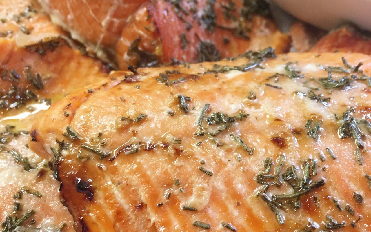 Healthy Honey & Rosemary Wild Caught Salmon