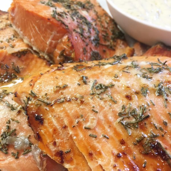 Healthy Honey & Rosemary Wild Caught Salmon