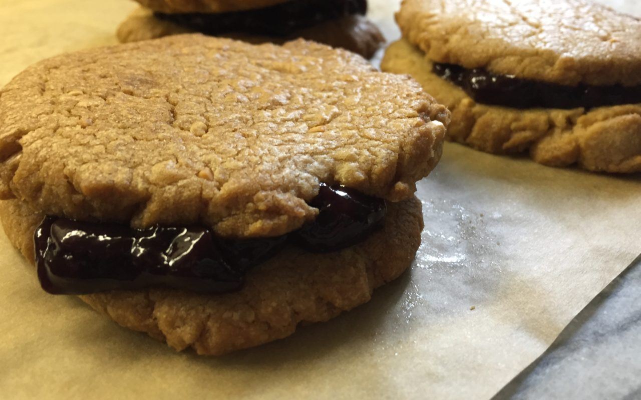 Easy and Quick Clean Eating PB & J Cookies (Immaculate Brand)