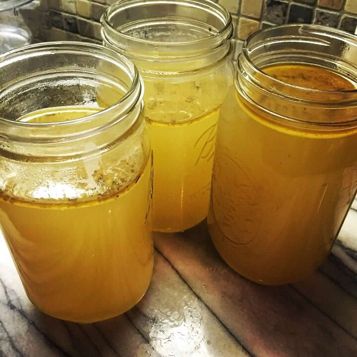 Chicken Bone Broth….easy and supportive