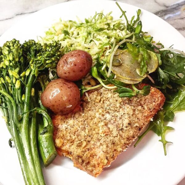 Air Fryer Almond Crusted Salmon