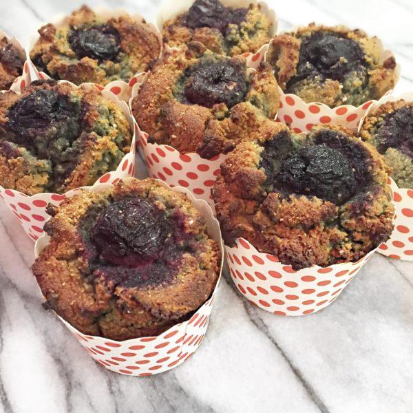 Coconut Cherry Chia Muffins