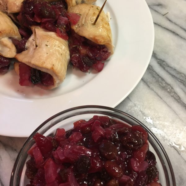 Cranberry Chutney Stuffed Turkey