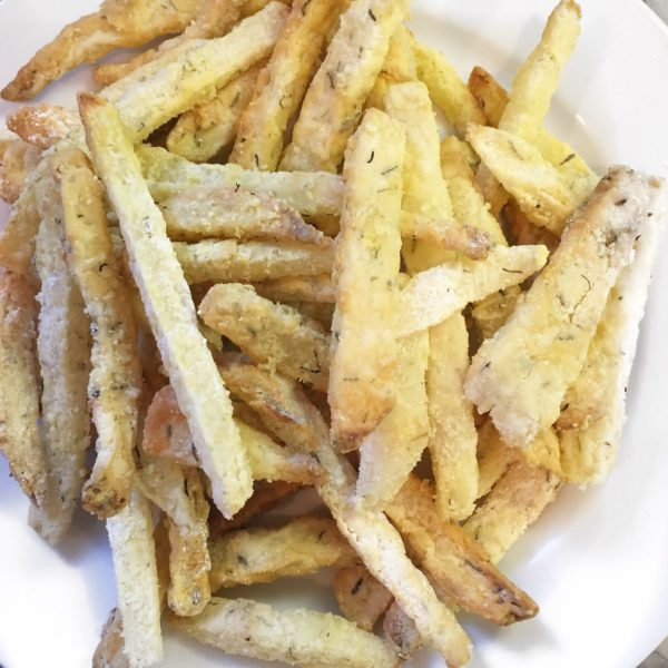Thyme for Air-Fried Jicama Fries… a healthier side dish with crunch