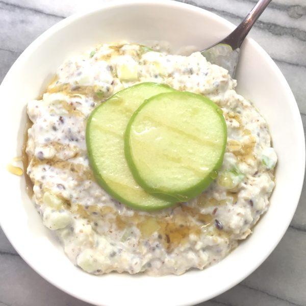 Easy Prep Green Apple Overnight Oats