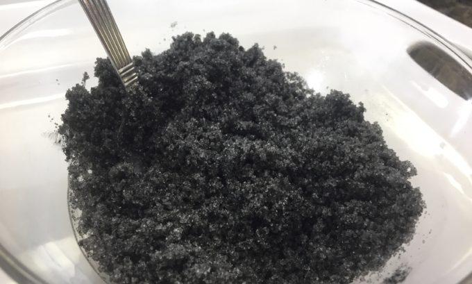 DIY Activated Charcoal Sugar Scrub