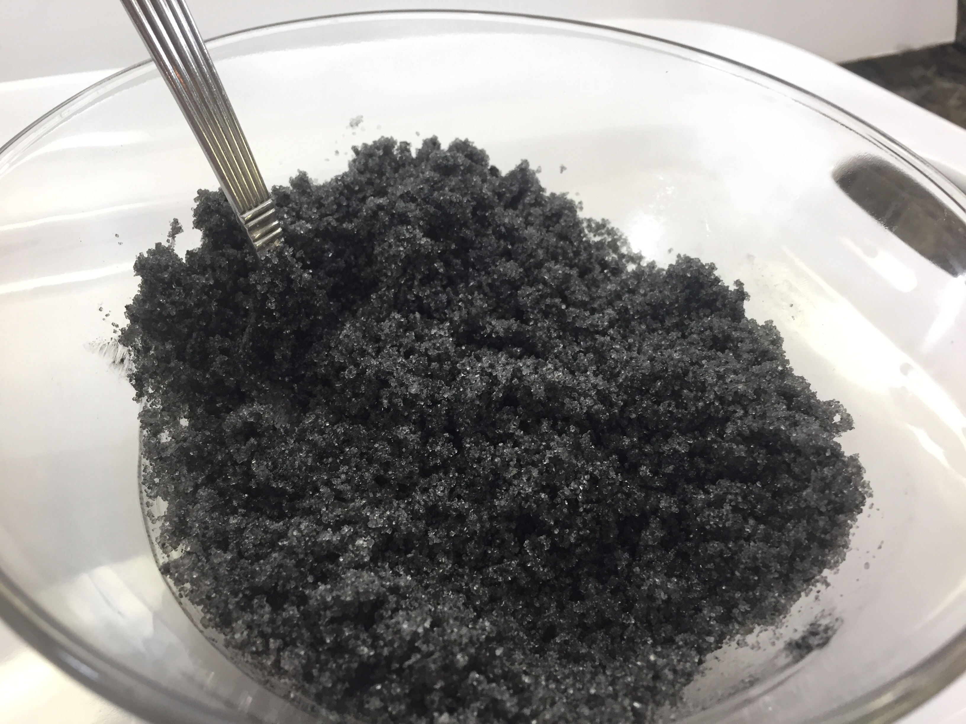 DIY Activated Charcoal Sugar Scrub