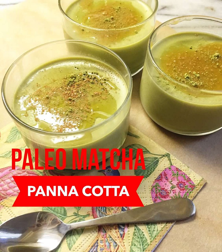 Cleanly Consumed Matcha Panna Cotta