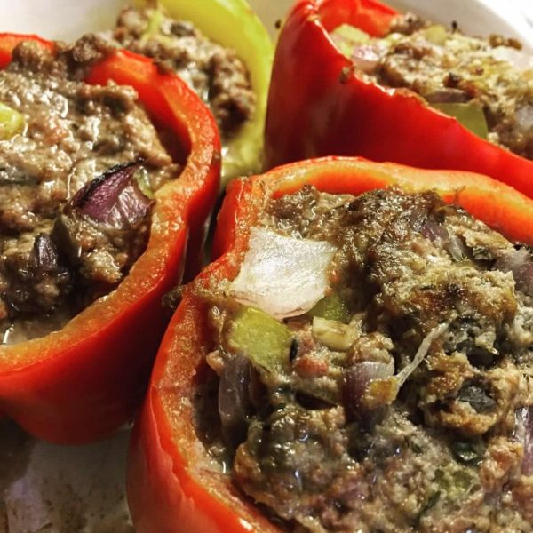 Meatloaf Stuffed Bell Peppers