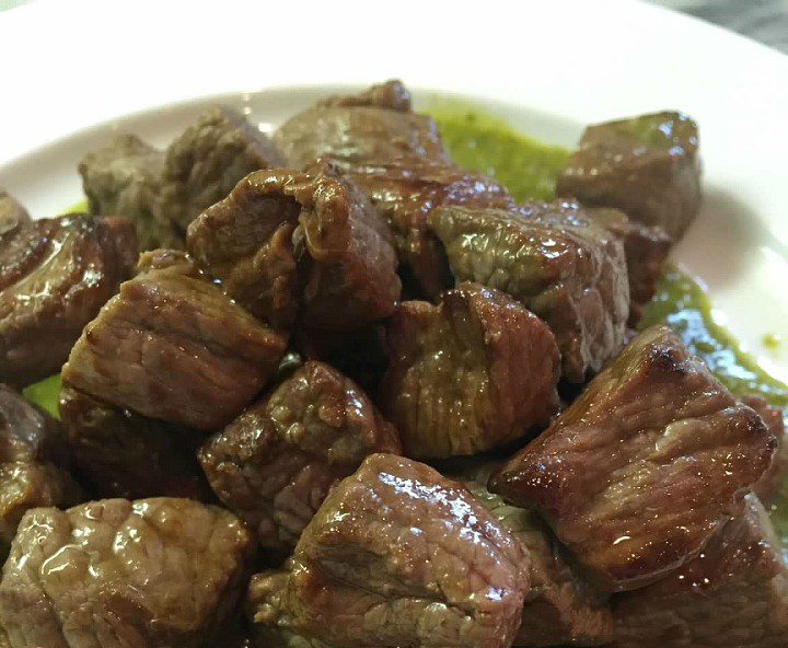 Steak Bites with Chimichurri Sauce