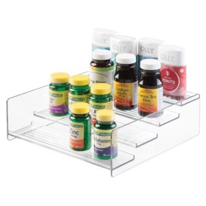 clean eating kitchen supplement organizer
