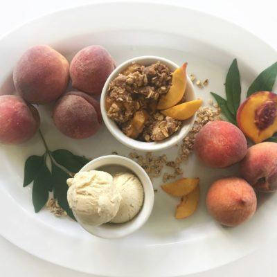 Healthy Peach Dessert- Peach Oatmeal Crisp
